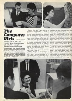 Normalizing Female Computer Programmers in the '60s » Sociological Images