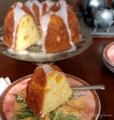 Sugar Dusted Peach Bundt Cake
