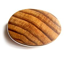 Marielle Ledoux, 'Relics' brooch in silver and wood