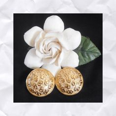 """Vintage Christian Dior Clip Earrings Authentic.  Measures about 1 1/8"""" in diameter.  Gold tone with logo.  Signed Chr Dior.  Never used and in excellent vintage condition.  No trades or PayPal. Dior Jewelry Earrings"""