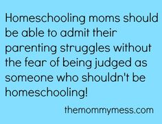 It's not always about homeschool! AGREED!