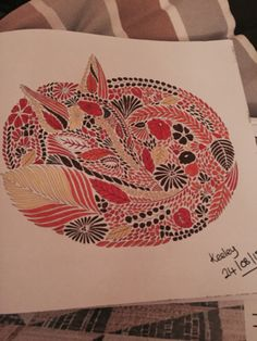 Fox From Millie Marottas Animal Kingdom Colouring Book