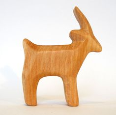 For a long time we have wanted to be able to offer a set like this one and recently we contacted a very gifted German woodcarver and he made this splendid set. Each of these wooden animals is beautifu