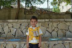 Hadi with his pair of binoculars