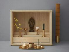 not Buddhist at all but this is really neat.  Small Buddhist Altar(Butsudan)