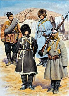 Russian troops at Port Arthur, winter, Russo-Japanese War