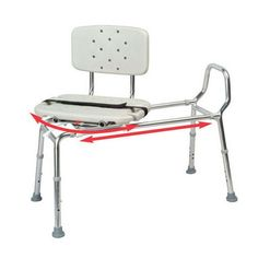 Read review Carousel Sliding Transfer Bench with Swivel Seat ...