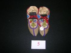 fully beaded ojibwe moccasins, late 19th century