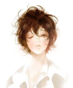 View full-size (532x641 179 kB.) Boy Art, Art Girl, Illustrations, Illustration Art, Drawing Heads, Korean Art, Animated Cartoons, Make Art, Art Inspo