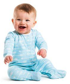 Blue Little Arrow Footie - Infant #zulily #zulilyfinds
