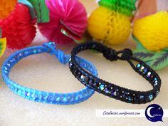 Gama de pulseras en tonos azulados para el verano.