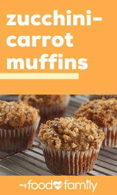 Zucchini-Carrot Muffins – Whether you're starting your morning or looking for a veggie-ful dessert, this spiced muffin recipe is sure to hit the spot! A Healthy Living recipe that's ready in under 40 minutes—what more could you ask for? Healthy Living Recipes, Healthy Dessert Recipes, Desserts, Zucchini Carrot Muffins, Spice Muffin Recipe, Calumet Baking Powder, Unsweetened Applesauce, Kraft Recipes, Online Dating