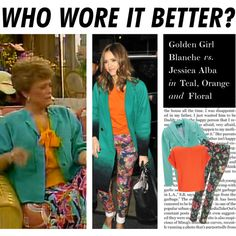 Who Wore It Better: Golden Girl Blanche or Jessica Alba? :)