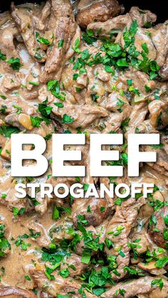 Quick, easy and delicious Beef Stroganoff. Practically syn-free on Slimming World, only 7 SmartPoints on Slimming World Beef Stroganoff, Best Beef Stroganoff, Beef Mushroom Stroganoff, Mushroom Sauce, Slimming World Dinners, Slimming World Recipes Syn Free, Slimming World Tips, Beef Stroganoff Instant Pot Recipe, Meat Recipes