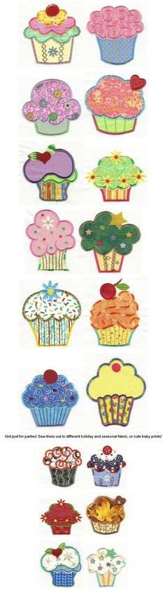 Embroidery | Free machine embroidery designs | Cute as a Cupcake Applique