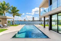 Modern Modular Homes, Modern Contemporary Homes, Modern Style Homes, Modern Bungalow, Small Backyard Pools, Small Pools, Above Ground Pool Decks, In Ground Pools, City Of Hollywood