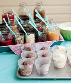 Summer Party Idea: Ice Cream   Buffet