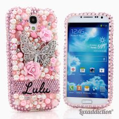 Style PN_1038 This Bling case can be handcrafted for Samsung Galaxy S3, S4, Note 2, Note 3.Our professional designers will handcraft a case for you in as little as 2 weeks. www.luxaddiction.com