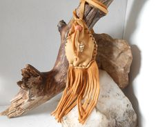 Small Fringe Medicine Pouch Amulet Bag by FaeMoonWolfDesigns
