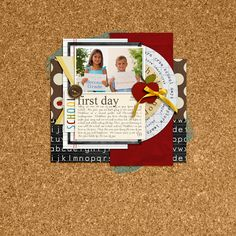 digital scrapbooking layout by rlma featuring Journal Cards: School by sahlin studio