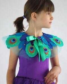 Pfau Vogel Kragen-Kinder Kostüm