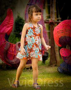 Toddler girl dress size 3T  blue by VividDress on Etsy