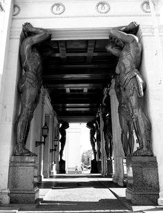 Hermitage Portico    The Hermitage, St Petersburg.