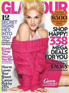 I love this comfy, sexy look Gwen Stefani has on this Glamour cover!