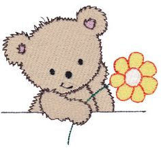 Bunnycup Embroidery | Free Machine Embroidery Designs | Cuddle Bear