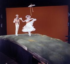 Behind the scenes of Mary Poppins (more photos at link)