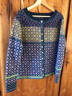 Ravelry: Project Gallery for Wiolakofta pattern by Kristin Wiola Ødegård Cardigan Pattern, Sweater Cardigan, Cherry Blooms, Fair Isle Knitting, Knitted Shawls, Needles Sizes, Ravelry, Knit Crochet, Cardigans