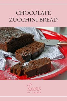 Looking for a vegan bread recipe? Click through to find out how to make this Chocolate Zucchini Bread | Heart of a Baker #veganrecipe #zucchinibread Vegan Breakfast Recipes, Delicious Vegan Recipes, Yummy Food, Tasty, Vegan Bread, Vegan Food, Chocolate Zucchini Bread, Healty Dinner, Vegan Dishes