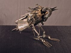 Amazing sculptures from salvaged goods by Jason Lyons. From Funky Junk Interiors