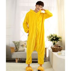 Cartoon Pikachu Hoddie Cosplay Costume Onesies Pajamas