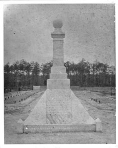 The Civil War Monument located at Bentonville Battlefield State Historic Site near Four Oaks, NC.