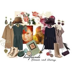 """""""Anne Shirley & Diana Barry"""" by aypinteriors on Polyvore"""