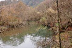 Rio Uncin casi en la desembocadura en la playa de la Concha de Artedo, Lamuño, Cudillero, #Asturias, #inviernorural
