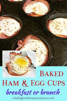 A low carb recipe for Baked Ham and Egg cups good for breakfast or brunch. Grab and go breakfast or fancy dish for a brunch occasion. Rib Recipes, Cooker Recipes, Dinner Recipes, Keto Recipes, Lasagna Recipes, Lentil Recipes, Broccoli Recipes, Sausage Recipes, Potato Recipes
