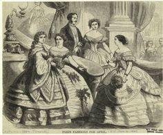 In the Swan's Shadow: Harper's Weekly, April 16, 1859. Civil War Era Fashion Plate