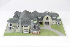 Country Mansion. | #3DPrinted #3DPrinting #Architecture
