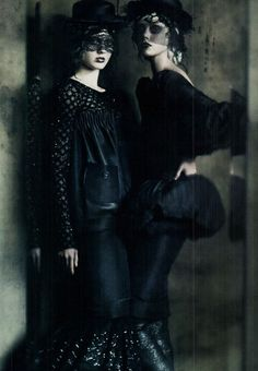 "Frida Gustavsson and Monika Jagaciak in ""The Haute Couture"" by Paolo Roversi for Vogue Italia September 2011 Fashion Mag, Dark Fashion, Gothic Fashion, Editorial Fashion, Fantasy Fashion, Fashion Editor, Paolo Roversi, Vogue, Editorial Photography"