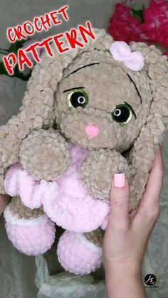 Animal Knitting Patterns, Crochet Patterns Amigurumi, Diy Crochet Projects, Crochet Crafts, Easy Crochet Animals, Crochet Baby Toys, Kawaii Crochet, Christmas Craft Projects, Plush Pattern