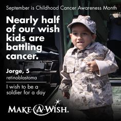 On the average, 36 children and adolescents are diagnosed with cancer everyday in the United States.  Help grant wishes for these brave children