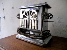 Vintage French Toaster Silver Chrome Art Deco by TranquiliteFrance