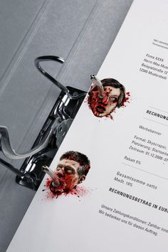 """Stationery of Horror. A bloodthirsty corporate design for Germany's most famous crime and horror channel."""