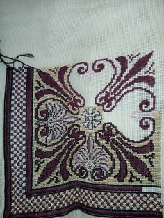 Imelda's media content and analytics Beaded Embroidery, Cross Stitch Embroidery, Hand Embroidery, Embroidery Designs, Cross Stitch Borders, Counted Cross Stitch Patterns, Cross Stitching, Blackwork, Embroidery For Beginners