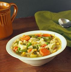"""Vegan """"Chicken"""" Noddle Soup 