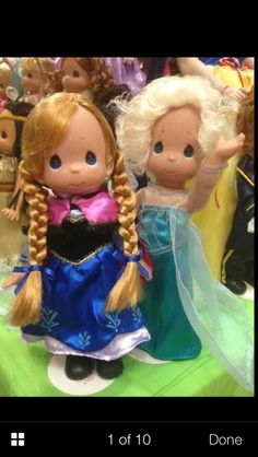 Look they look so pretty precious moments frozen dolls find them at eBay seller carlosmedina507