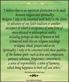 I like both. Everything having to do with the human spirit. I find no importance in salvation, nor dogma, but I like ritual, prayers and acceptance of meta-physical or philosophical realities.
