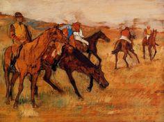 Before the Race by Edgar Degas Medium: oil on panel